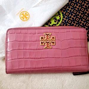 ❤Tory Burch Croc Wallet